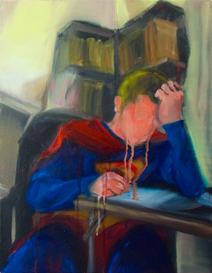 Untitled (Man of Tomorrow 09), 18 x 14 inches, oil on canvas, 2010