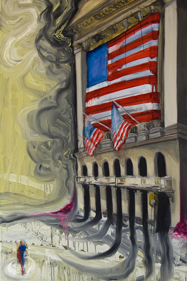 Untitled (Man of Tomorrow 11), 60 inches x 40 inches, oil on canvas, 2010-11