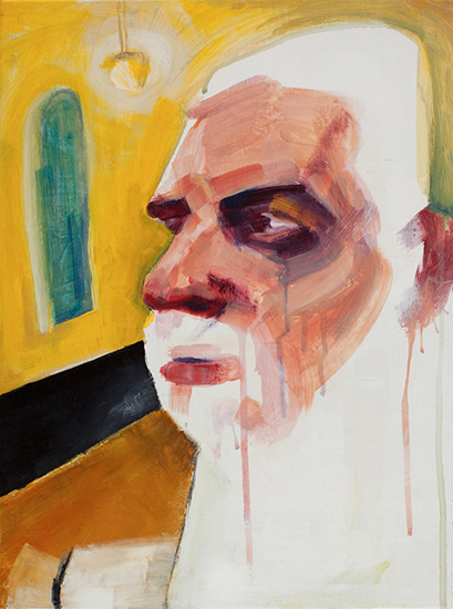 Study of One Head (After Ruben's 'Study of Two Heads' 030210), 16 x 12 inches, acrylic on canvas, 2010