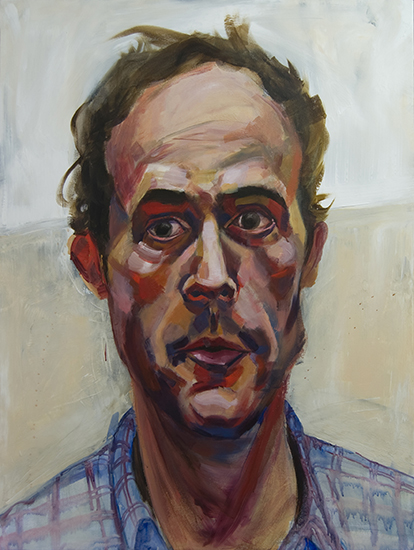 Large Head I, 48 x 36 inches, acrylic on canvas, 2009