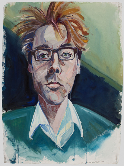 Nate, 30 x 22 inches, gouache, 2009