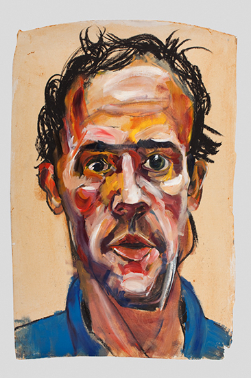 Portrait Study (Chip), 33 x 22 inches, oil stick and acrylic, 2009