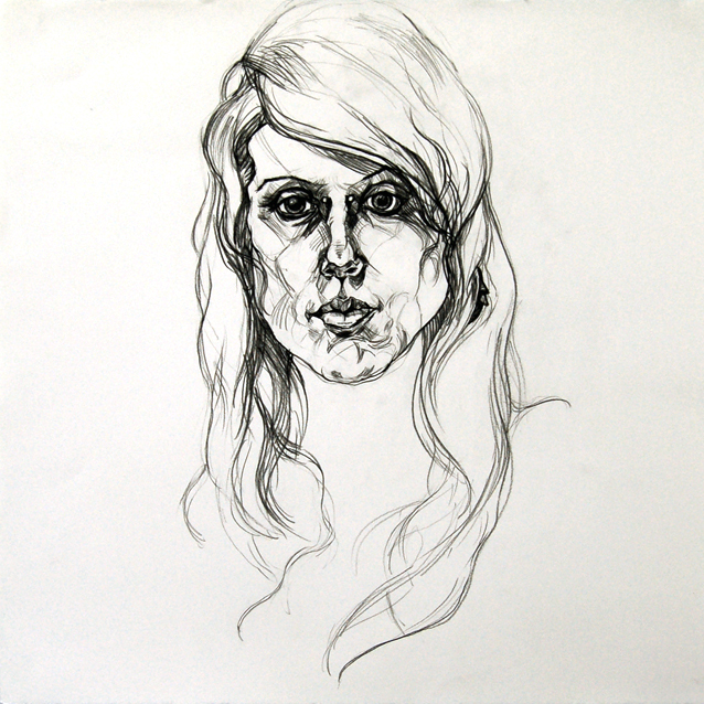 Melissa, 22 x 22 inches, oil-based pencil, 2008