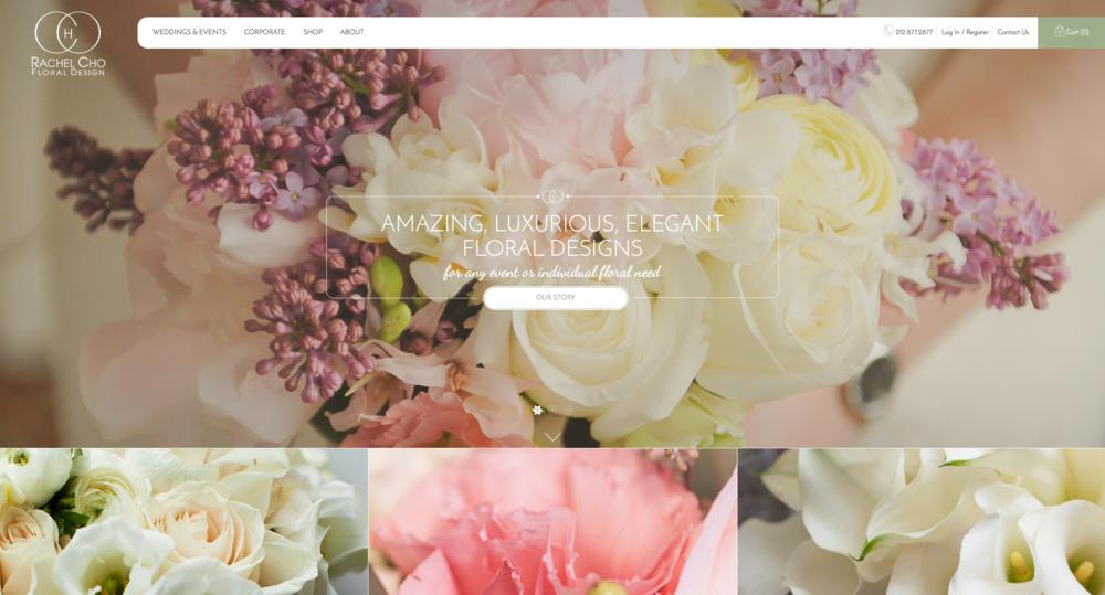 Screenshot of http://rachelchoflowers.com/