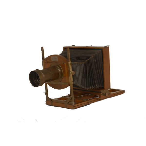 E & H T Anthony 8 x 10 Fairy   1888 8x10 light weight folding view camera. This camera had a revolving back and bellows so pictures could be taken both horizontally or vertically.