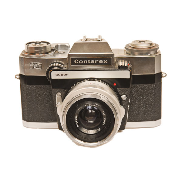 Zeiss Ikon Contarex Super   1968-1972. One of Zeiss Ikon's top of the line 35mm SLR.