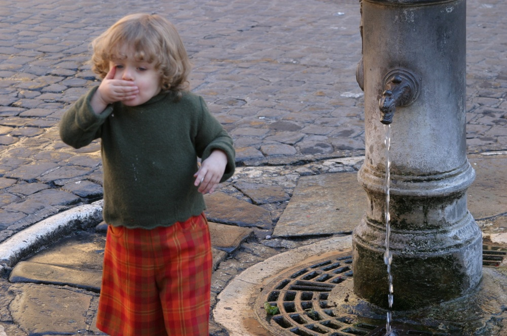 Drinking Fountain Rome 01/2004   © photo by AJ Weissbard