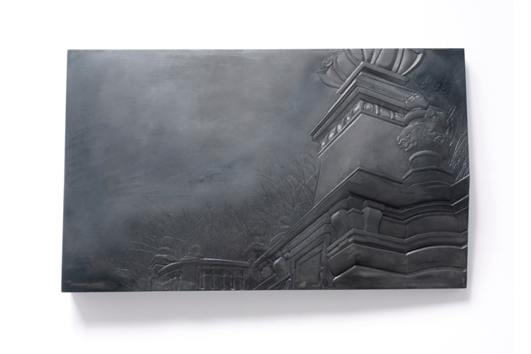Sarah Bostwick Brussels Monument, 2012 Hydrocal and pigment 9.25 x 15.25 x 1.5 inches