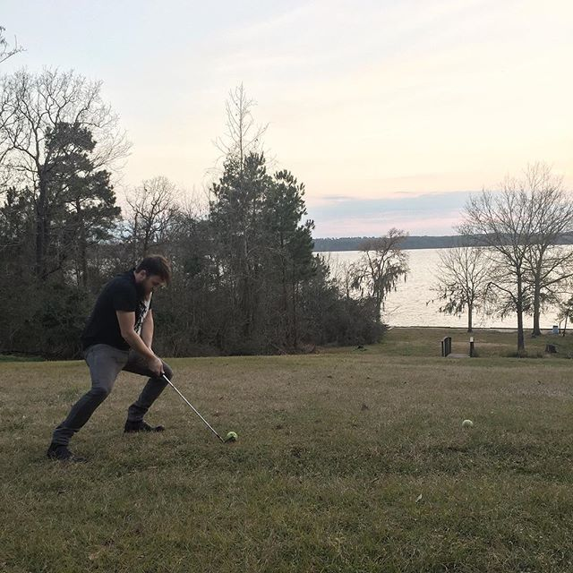 Last day of writing the second album. Wrote two new songs and now, driving some tennis balls towards the lake... Bro, do you even golf?.. #Golf #DreamChasers #Musicians #Music #BandLife #ShatteredSilence #ShatteredSilence #Day8 #SSAlbum2