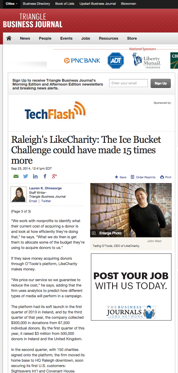 Featured on http://www.bizjournals.com/