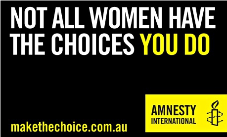 Photograph:   Amnesty International Australia
