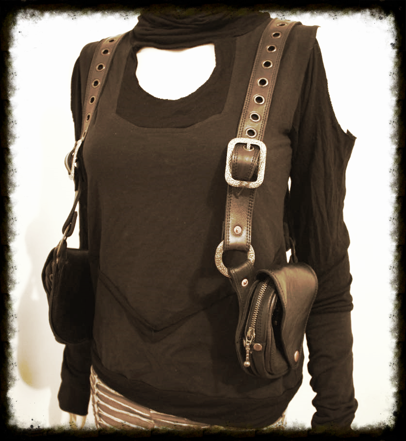 Black shoulder holster pockets now available on our ETSY page click the photo to go to the online store