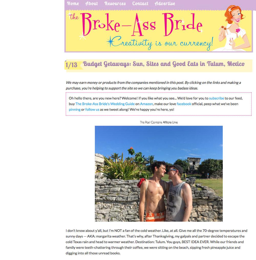 Full story:https://www.thebrokeassbride.com/budget-getaways-tulum-mexico/