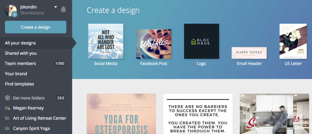 Yoga and Wellness Business Graphic Design