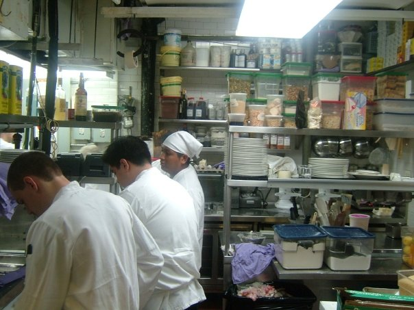The Larder Section at Babbo mid service