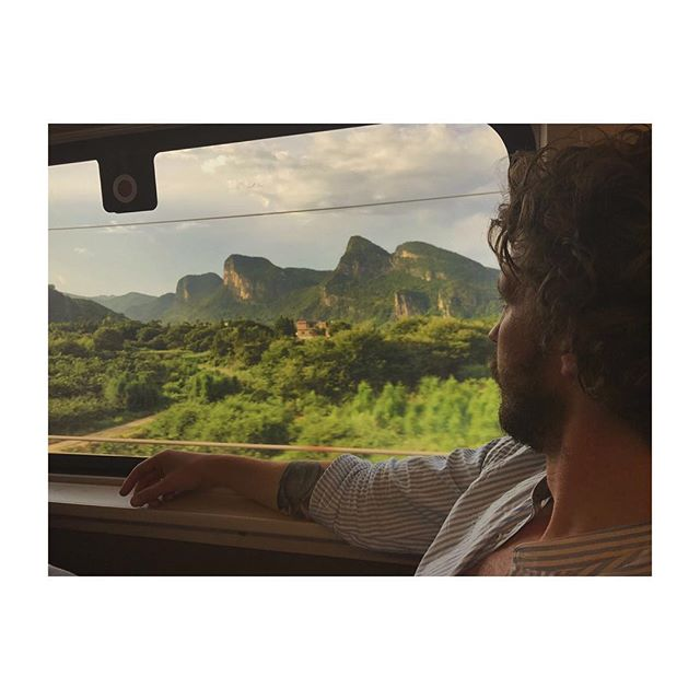 @wannesv_picturedbyus taking in the incredible views on the bullet train from Shenzhen to Kunming. #picturedbyus #china #karst