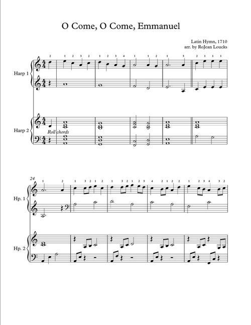 O Come O Come Emmanuel Rojean Loucks Harpist