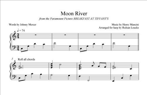 Moon River — RoJean Loucks, harpist