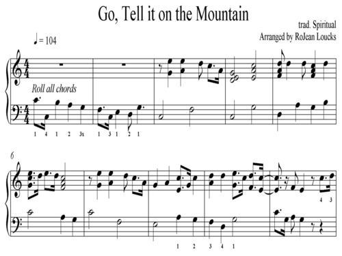 Go, Tell it on the Mountain — RoJean Loucks, harpist