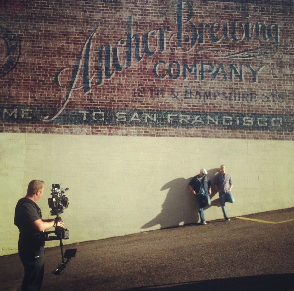 """Hard at work on """"BrewDogs"""" for Esquire TV."""