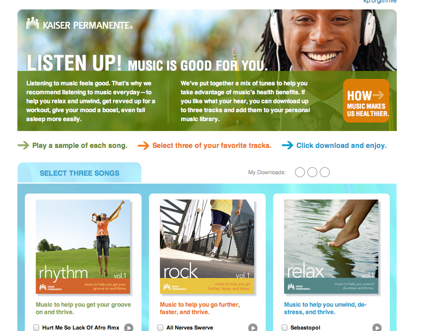 Kaiser Permanente's Healthy Music Engagement