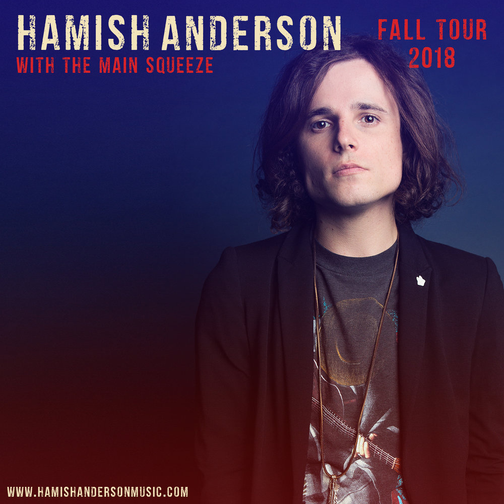 Pollstar Announces Hamish's Fall Tour - September 10, 2018