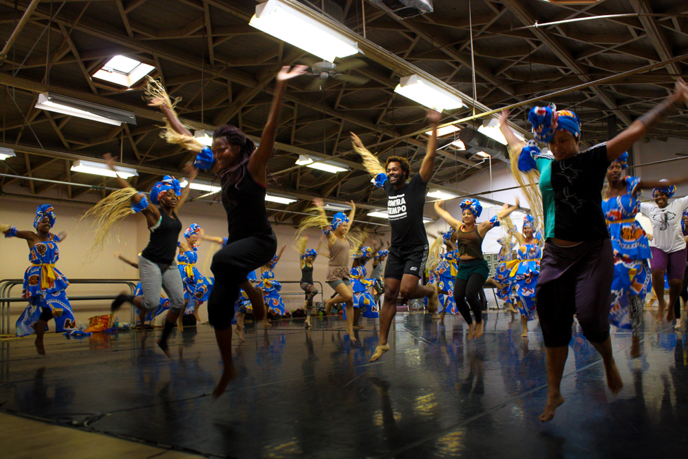 Finding the joy and power in centuries old movement, the company prepares for the Hollywood Bowl. Photo by Susan Goines.