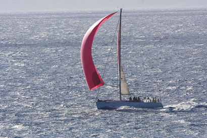 Kinetic nears the Vic-Maui finish line in West Maui.  PHOTO BY ARTHUR FROE