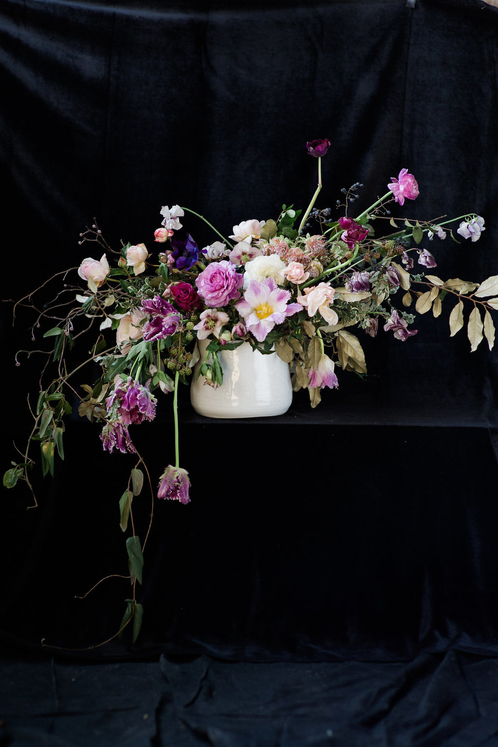 wild oganic wedding flowers