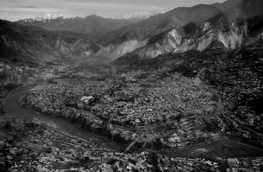 Aerial view of Muzaffarabad city, Kashmir, Pakistan, October 27, 2005. (Photo / Mark Pearson) The massive October earthquake in Kashmir affected one of the highest and most remote places on earth. Difficult terrain slowed the relief effort and the largest scale humanitarian air operations since the Berlin blockade began.