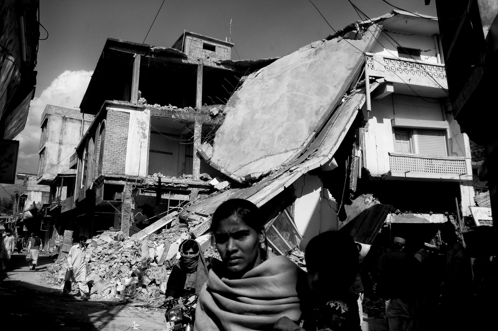 The destroyed city of Bagh, Kashmir, Pakistan, October 18, 2005. (Photo / Mark Pearson) The massive October earthquake in Kashmir affected one of the highest and most remote places on earth. Difficult terrain slowed the relief effort and the largest scale humanitarian air operations since the Berlin blockade began.