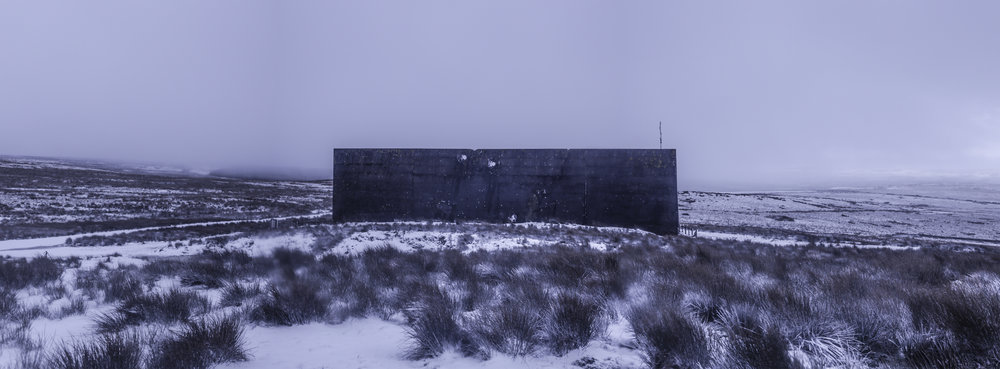 RAF Bomber Command target wall, secret location, Scotland 11 February, 2018. (Photo/Mark Pearson)