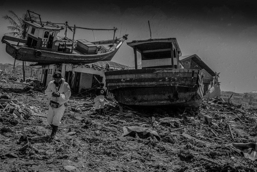 INDONESIA. Sumatra island. Banda Aceh. After the tsunami. 2005. ©MarkPearson