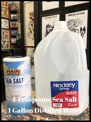 How To Make Sea Salt Solution Newlife Tattoos
