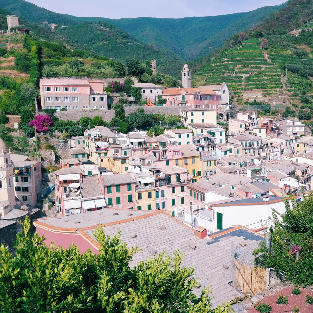 Views from the castle in Vernazza, Cinque Terre, Italy