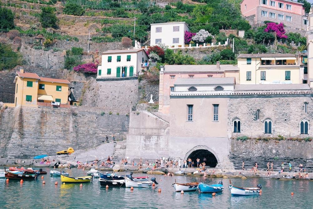 Swim time in Vernazza, Cinque Terre