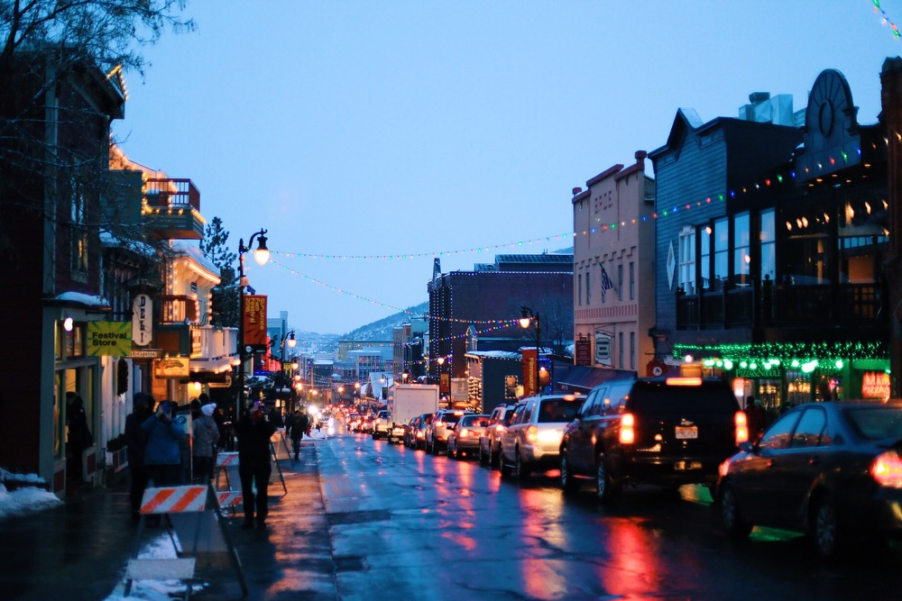 Nighttime on Main St. in Park City