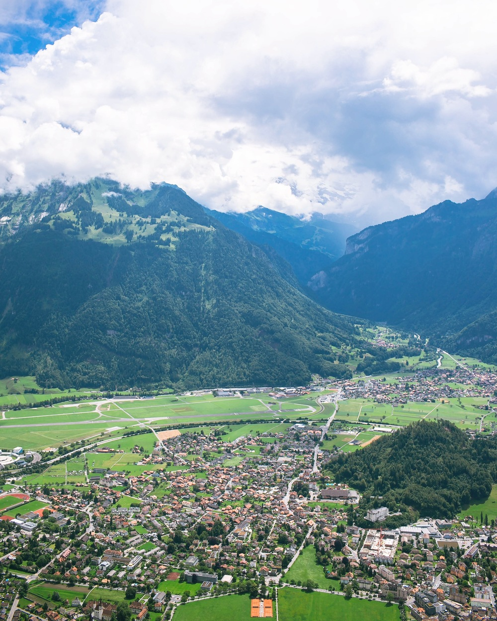 Interlaken, Switzerland from above