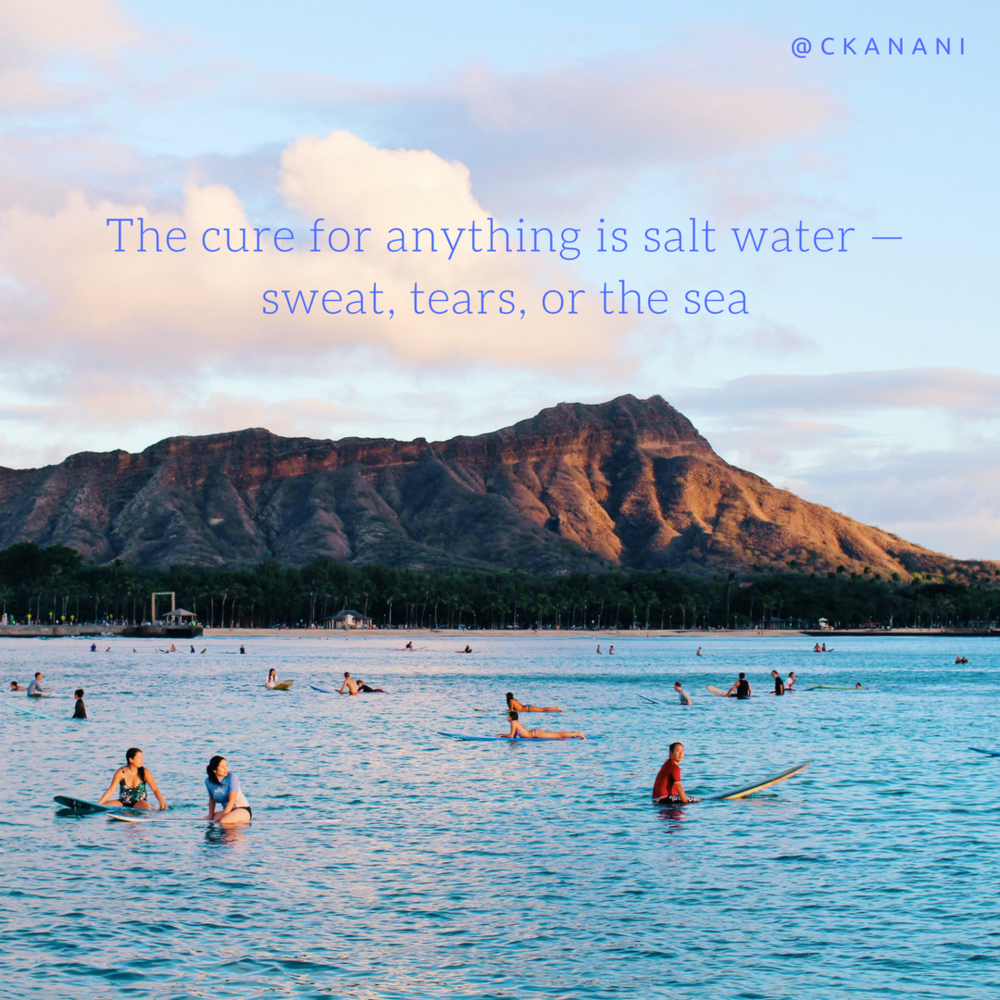 """The cure for anything is salt water — sweat, tears, or the sea."" #travelquote 