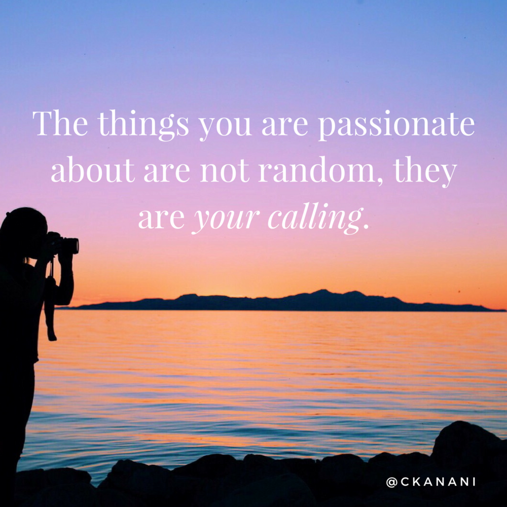 """The things you are passionate about are not random, they are your calling"" #travelquote 