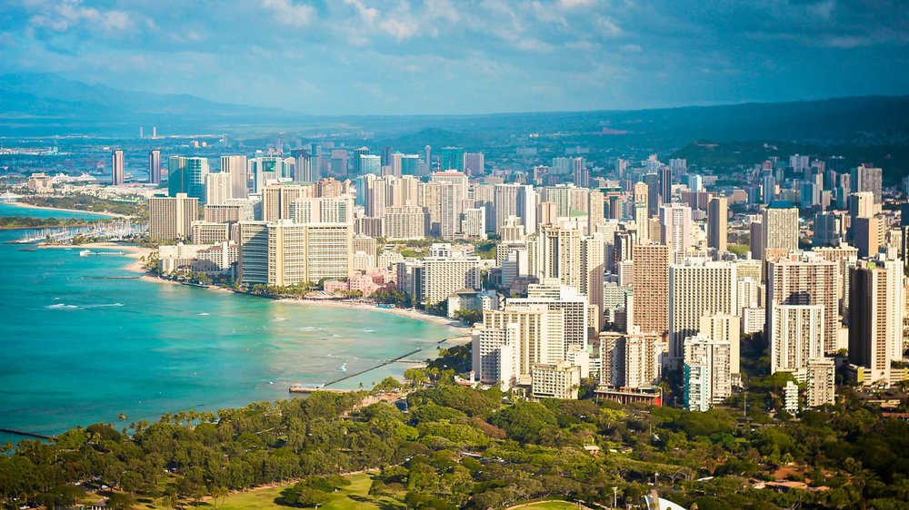 Pictures of Waikiki Beach are best from Diamond Head