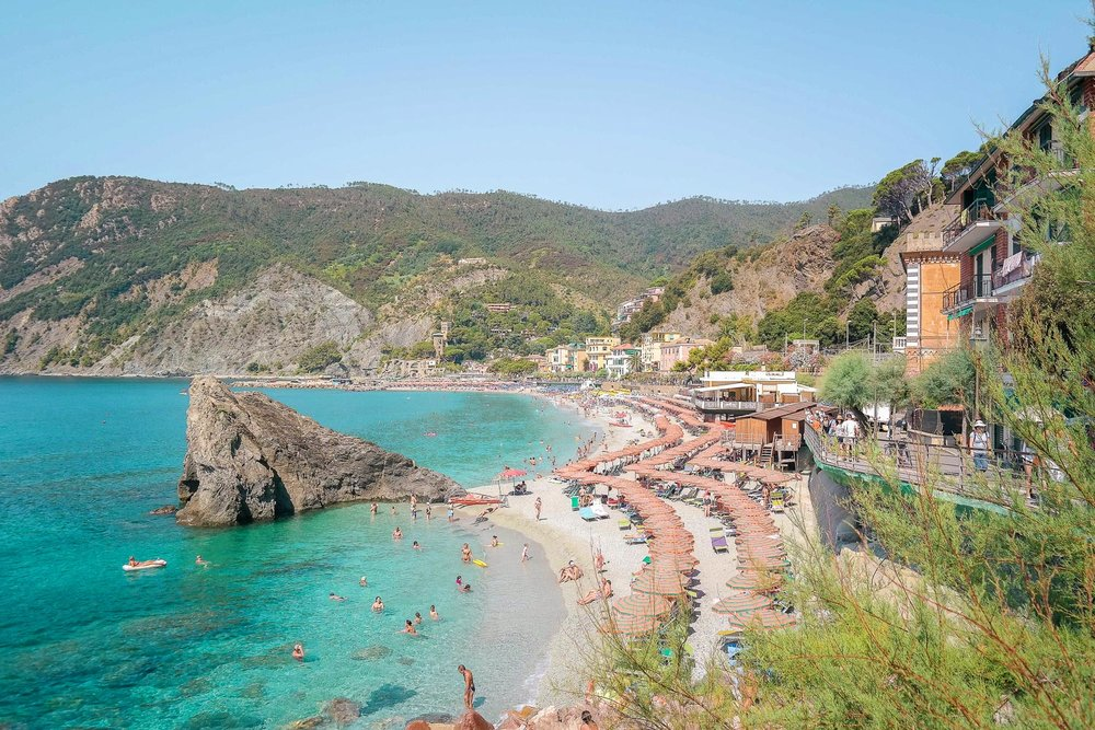 Monterosso, the largest and northern-most town in Cinque Terre. Also has the biggest beach!