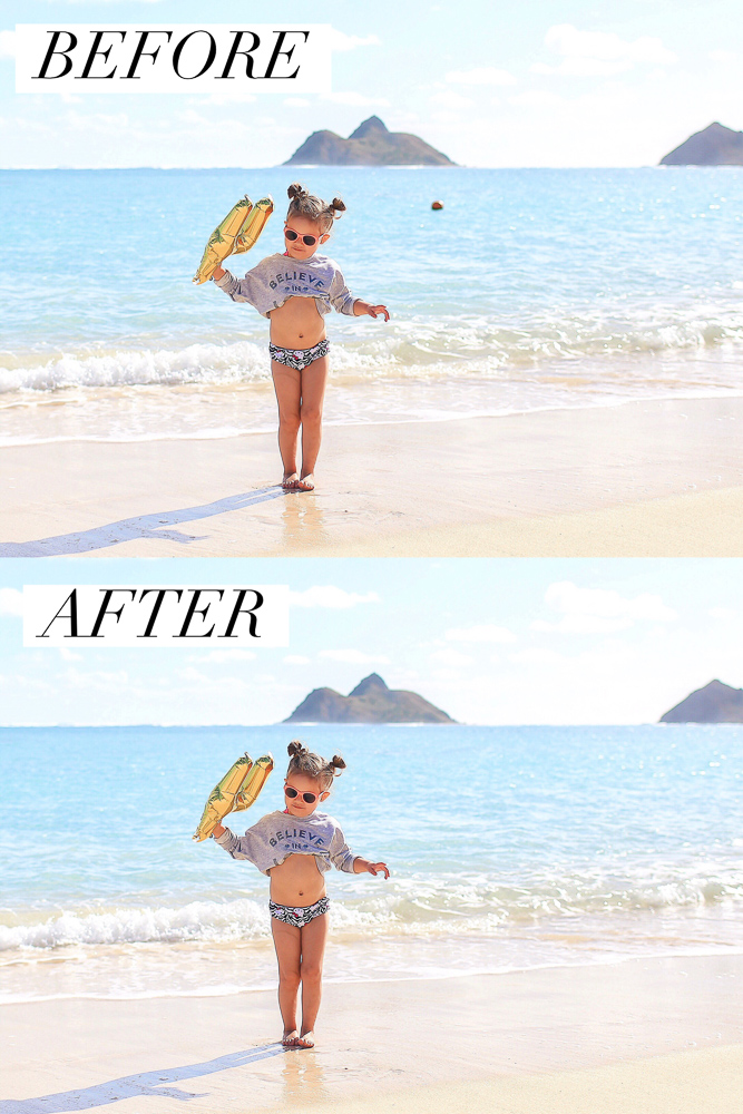 Before and after of a photo edited via the Touch Retouch mobile app