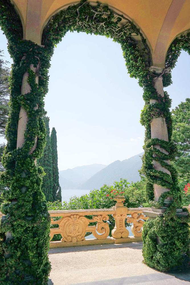 Lake views of Villa del Balbianello on Lake Como