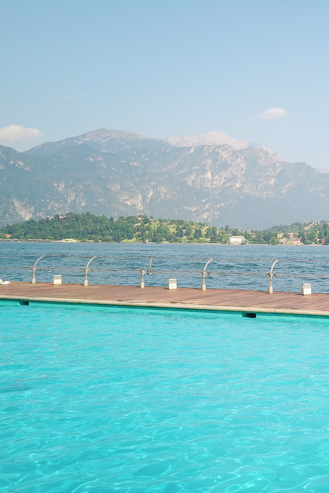 The famous floating pool at the Grand Hotel Tremezzo on Lake Como