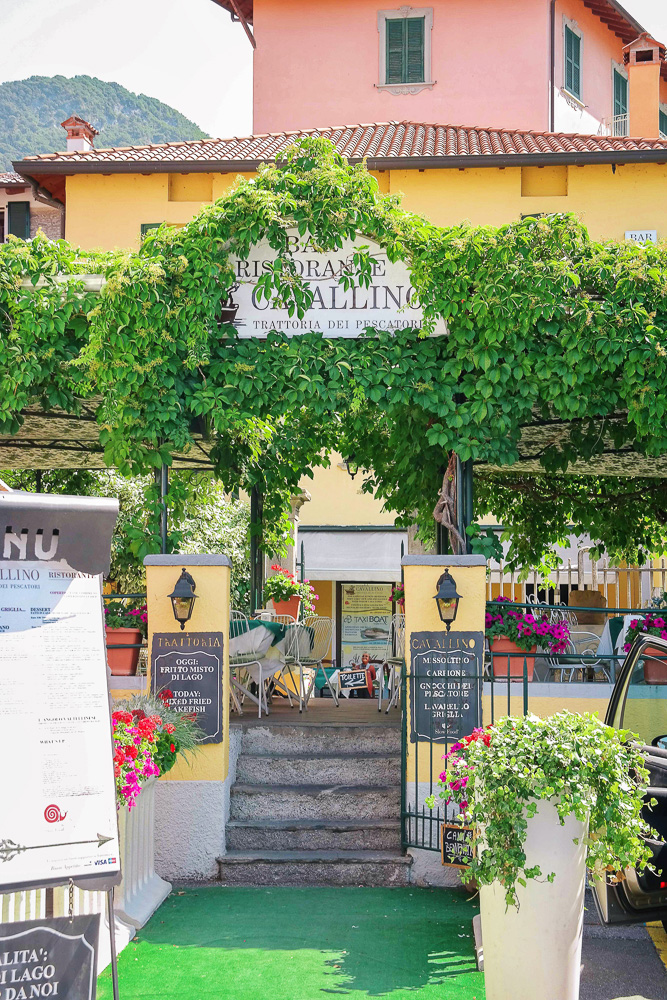 The cutest restaurant in Varenna on Lake Como