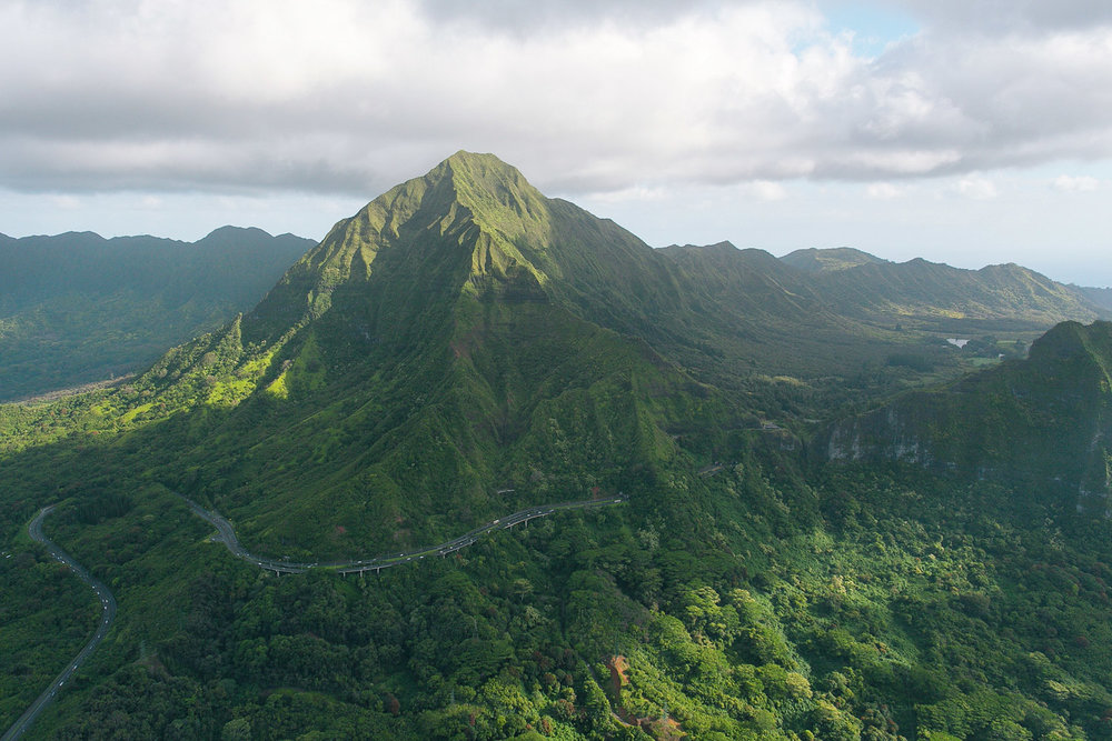 The Ko'olau Mountains on Oahu, Hawaii