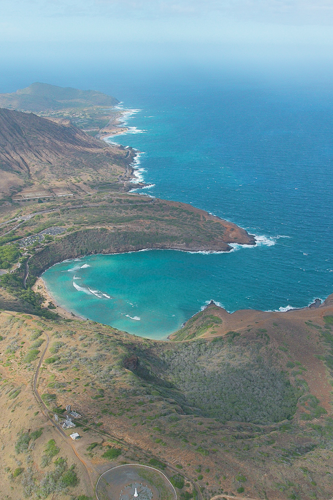 Hanauma Bay, a popular snorkel spot on Oahu