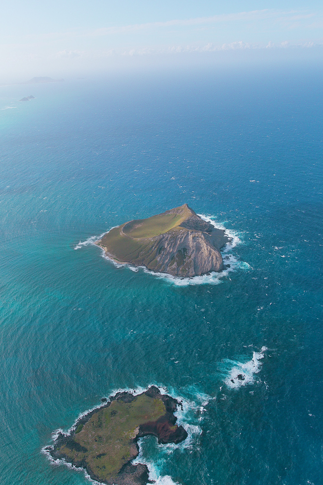 Helicopter views in Oahu, Hawaii