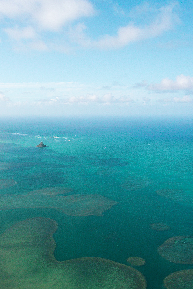 Mokoliʻi island, formally known as Chinaman's Hat Island, in Oahu, Hawaii